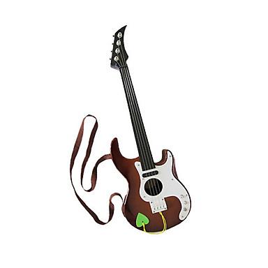 Kunststoff braun Simulation Kind Gitarre für Kinder ab 3 Musikinstrumente Spielzeug