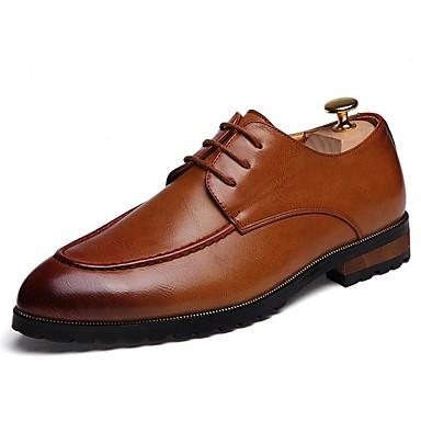 Men's Dress Shoes Synthetic Spring Black / Fall Comfort Oxfords Black Spring / Brown / Block Heel ad0716