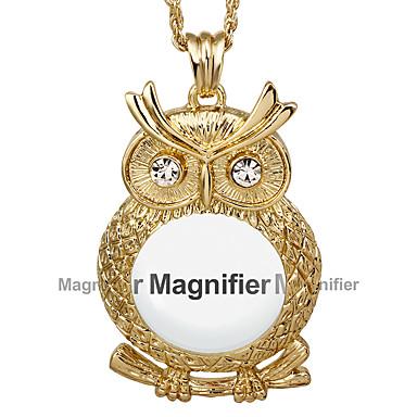Női Szintetikus gyémánt Bohém Nyaklánc medálok Kocka cirkónia / Strassz / Arannyal bevont Bagoly Fehér / Aranyozott / Hamis gyémánt