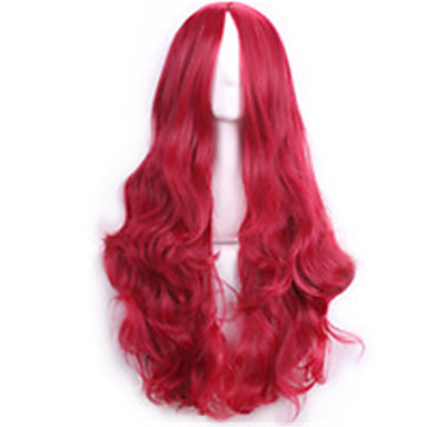 Synthetic Wig Curly Middle Part Women's Capless Carnival Wig Halloween Wig Long Synthetic Hair