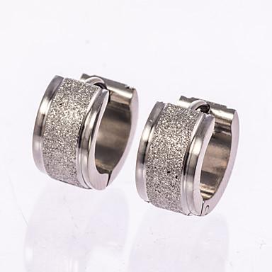 Homens Brincos Curtos / Brincos em Argola - Rosa ouro, Prata de Lei Preto / Prata Para Casamento / Festa / Diário