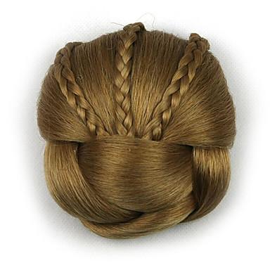 excêntricas encaracolados profissão de ouro do cabelo humano chignons rendas perucas 1011