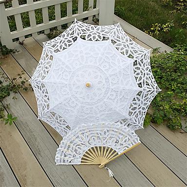 Post-Handle Spitze Hochzeit Strand Regenschirm Regenschirme ca.78cm