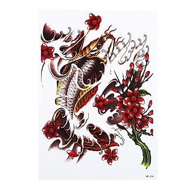 8pcs DIY temporäre Tätowierung-Aufkleber für Frauen Männer Goldfisch Blumenbild Design wasserdicht Körperkunst Tattoo