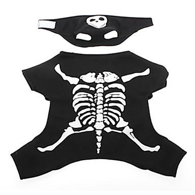 Chien Pantalon Noir Vêtements pour Chien Printemps/Automne Crânes Cosplay