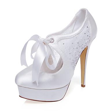 Női-Magassarkú-Esküvői cipők-Szandál-Esküvői / Ruha / Party és Estélyi-Bézs
