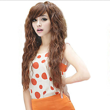 New Fashion Long Curly Hair Repair Face Fluffy Corn Curls Perm Type Cosplay Wigs