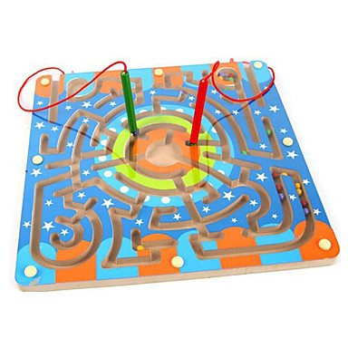Magnetiske leker Labyrinter og logikkspill Labyrint Magnetiske labyrinter Deler 25*15mm Leketøy Klassisk Magnetisk Moro Gave