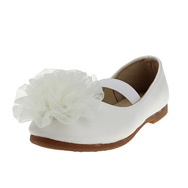 Para Meninas Rasos Conforto Courino Primavera Outono Casamento Casual Social Festas & Noite Conforto Rasteiro Branco Rosa Rasteiro