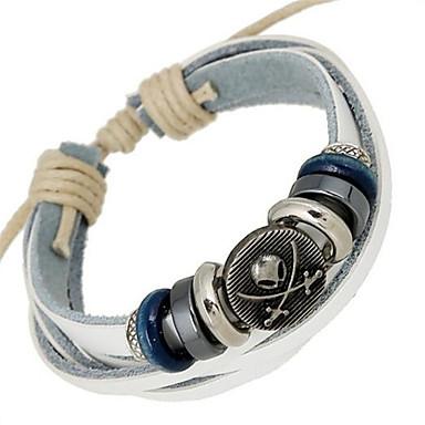 Bracelet Bracelets de rive / Bracelets en cuir Alliage / Cuir Mariage / Soirée / Quotidien / Décontracté / Sports Bijoux Cadeau Blanc,1pc