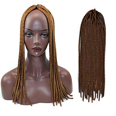 20 אינץ הצמה סרוגה קולע טוויסט ממבו רך אפריקני הוואנה שיער 4 צבע טהור