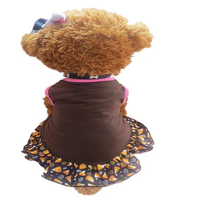 Yaz - Kahverengi / Mor Pamuk - Elbiseler - Köpekler - XS / M