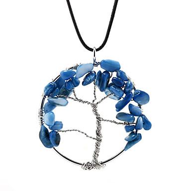 Modische Halsketten Halsketten / Anhängerketten / Anhänger Schmuck Kupfer / versilbert Hochzeit / Party / Alltag / Normal Silber / Blau1