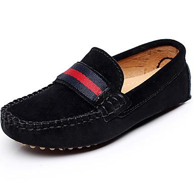 בנים נעליים עור אביב קיץ סתיו מוקסין נעלי סירה רצועה קלועה ל אתלטי קזו'אל בָּחוּץ אפור שחור אדום