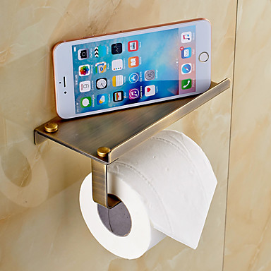 WC-Rollenhalter / Poliertes Messing Antik