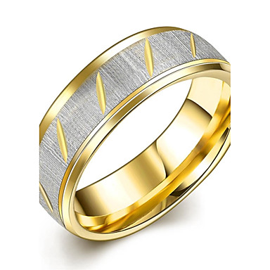 Homens Anéis de Casal / Anel de banda / Anel de declaração - Chapeado Dourado Borla, Boêmio, Punk 7 / 8 / 9 Dourado Para Casamento / Festa / Diário