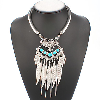 Modische Halsketten Halsketten / Anhängerketten Schmuck Hochzeit / Party / Alltag / Normal Aleación Silber / Blau 1 Stück Geschenk