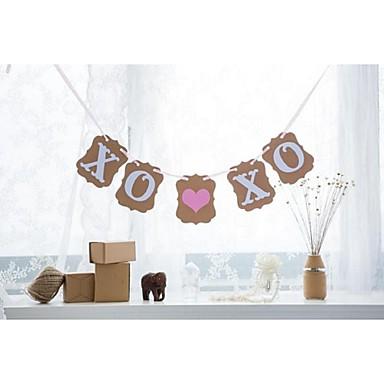 Hochzeit / Jahrestag / Verlobung Hartkartonpapier Hochzeits-Dekorationen Strand / Garten / Blumen Frühling / Sommer / Herbst