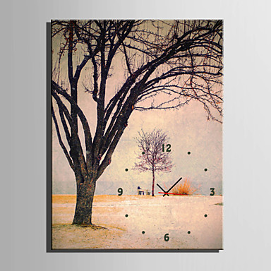 Rektangulær Moderne / Nutidig Wall Clock,Andre Lerret35 x 50cm(14inchx20inch)x1pcs/ 40 x 60cm(16inchx24inch)x1pcs/ 50 x