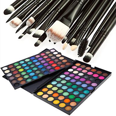 Sombras de Ojos Polvos Pinceles de Maquillaje Maquillaje Ojo Seco Mate Brillo Impermeable Gloss brillante Gloss colorido # 120 colores Cosmético Útiles de Aseo