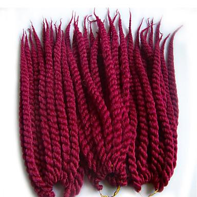 Tranças torção Havana fibra sintética médio Auburn Roxo Vinho Azul Marrom Médio Extensões de cabelo 40cm 45cm 51cm 56cm 24