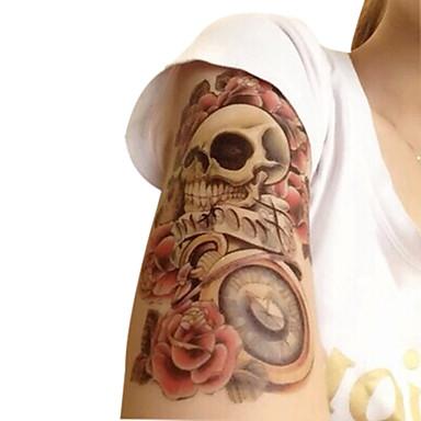 vedenpitävä väliaikaiset tatuoinnit suuri käsivarren väärennetty siirto tatuointi tarroja seksikäs spray