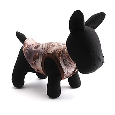 Katze Hund Mäntel Hundekleidung Blumen / Pflanzen Kaffee Baumwolle Kostüm Für Haustiere Herrn Damen warm halten Modisch