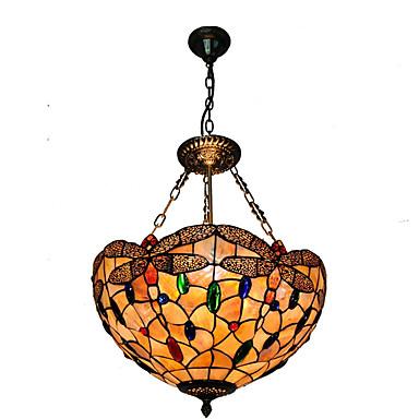 CXYlight Tiffany Pendelleuchten Deckenfluter - Ministil, 110-120V / 220-240V Glühbirne nicht inklusive