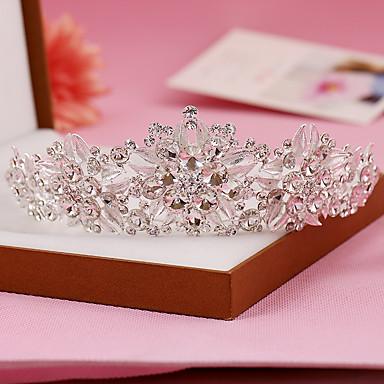 Sterling Silber Strass Tiara Kopfstück klassischen weiblichen Stil