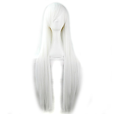 Women's Synthetic Wig Straight White Cosplay Wig Halloween Wig Carnival Wig Costume Wig