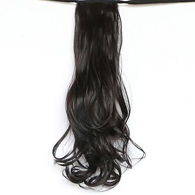 Klassisch Pferdeschwanz Gute Qualität Haarstück Haar-Verlängerung Schwarz Alltag