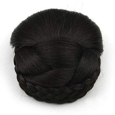 verworrene lockige schwarze europa Braut Perücken menschliches Haar capless Chignons sp-159 2/33