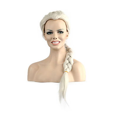Syntetisk hår Parykker Bølget Lokkløs Lang