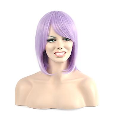 hohe Qualität kurze gerade lila Partei Farbe Frau synthetische Perücken