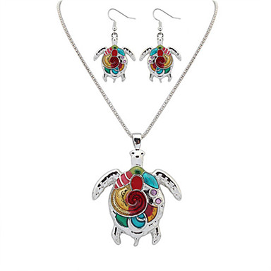Mujer Conjunto de joyas - Resina Europeo, Moda Incluir Collar / pendientes Plata / Dorado Para Fiesta Diario Casual / Pendientes / Collare