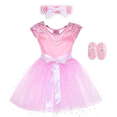 Aufführung-Kleider(Rosa,Elastan / Polyester,Aufführung) - fürKinder Kleid / Kopfbedeckungen Ärmellos