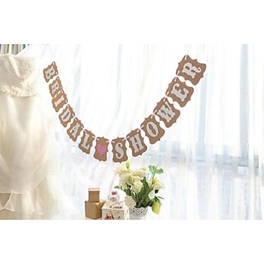 Bryllup / Forlovelse / Polterabend Hårdt Kortpapir Bryllup Dekorationer Have Tema / Blomster Tema / Eventyr Tema Forår / Sommer / Efterår