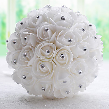Wedding Flowers Bouquets Wedding Chiffon Bead Satin 11.42