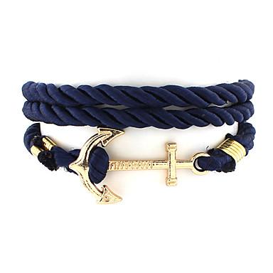 voordelige Herensieraden-Heren Dames Bedelarmbanden geweven Uniek ontwerp Modieus Nylon Armband sieraden Zwart / Donkerblauw / Rood Voor Bruiloft Feest Dagelijks Causaal Sport