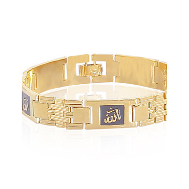 Bracelet Chaînes & Bracelets Alliage / Cuivre Mariage / Soirée / Quotidien / Décontracté / Sports Bijoux Cadeau Doré,1pc