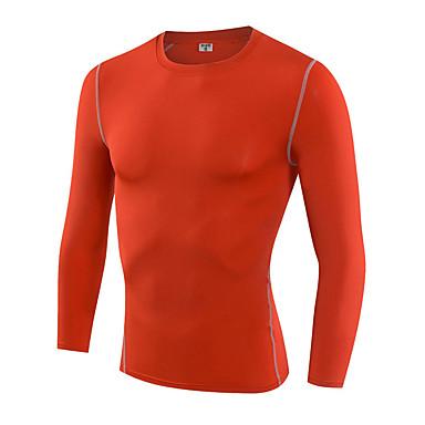 Homens Camiseta de Corrida Camiseta Segunda Pele Vermelho Azul Verde Claro  Esportes Camiseta Camada de base 8948508e27f4d