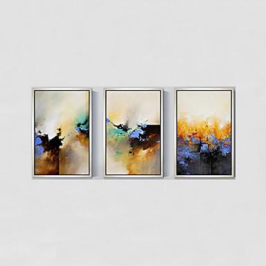 מצויר ביד L ו-scape / פרחוני/בוטני ציורי שמן,מודרני / פסטורלי / סגנון ארופאי פנל אחד בד ציור שמן צבוע-Hang For קישוט הבית