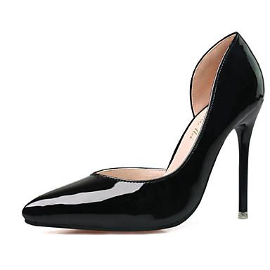 Damen-High Heels-Lässig-PU-Stöckelabsatz-Absätze-Schwarz / Lila / Rot / Grau / Burgund / Fuchsie