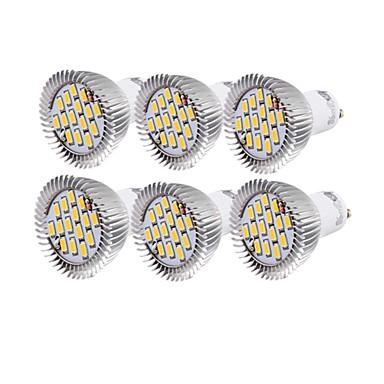 6W GU10 LED Spot Işıkları R63 15 led SMD 5630 Dekorotif Sıcak Beyaz Serin Beyaz 450-500lm 3000/6000K AC 220-240 AC 110-130V