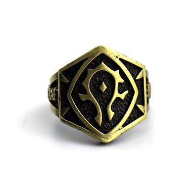 תכשיטים קיבל השראה מ WOW קוספליי אנימה אביזרי קוספליי טבעת מוזהב סגסוגת זכר / נקבה