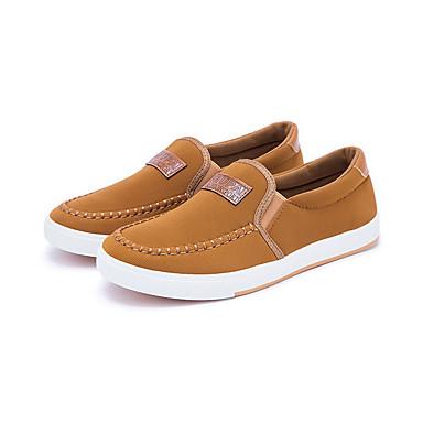 herresko utendørs / uformelle lær loafers / slip-on svart / blå / khaki