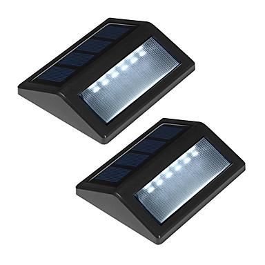 abordables Éclairage Extérieur-pack de 2 solaire mur puissance 6-conduit de montage jardin chemin de lumière lampe de clôture de paysage extérieur