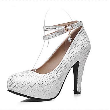 Naiset Kengät Synteettinen Kevät Kesä Syksy Stilettikorko varten Kausaliteetti Puku Valkoinen Sininen Pinkki