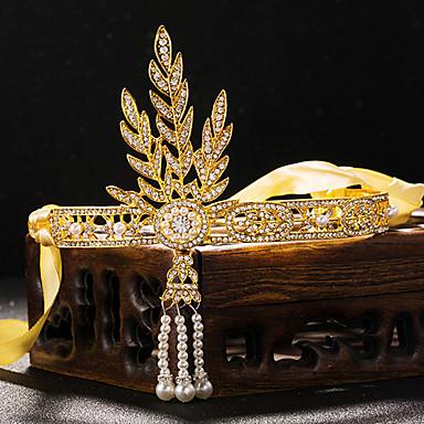 Femme Strass Alliage Imitation de perle Casque-Mariage Occasion spéciale Tiare 1 Pièce