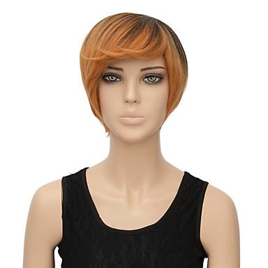 שיער סינטטי פאות מסולסל פאה שחורה קצר חום